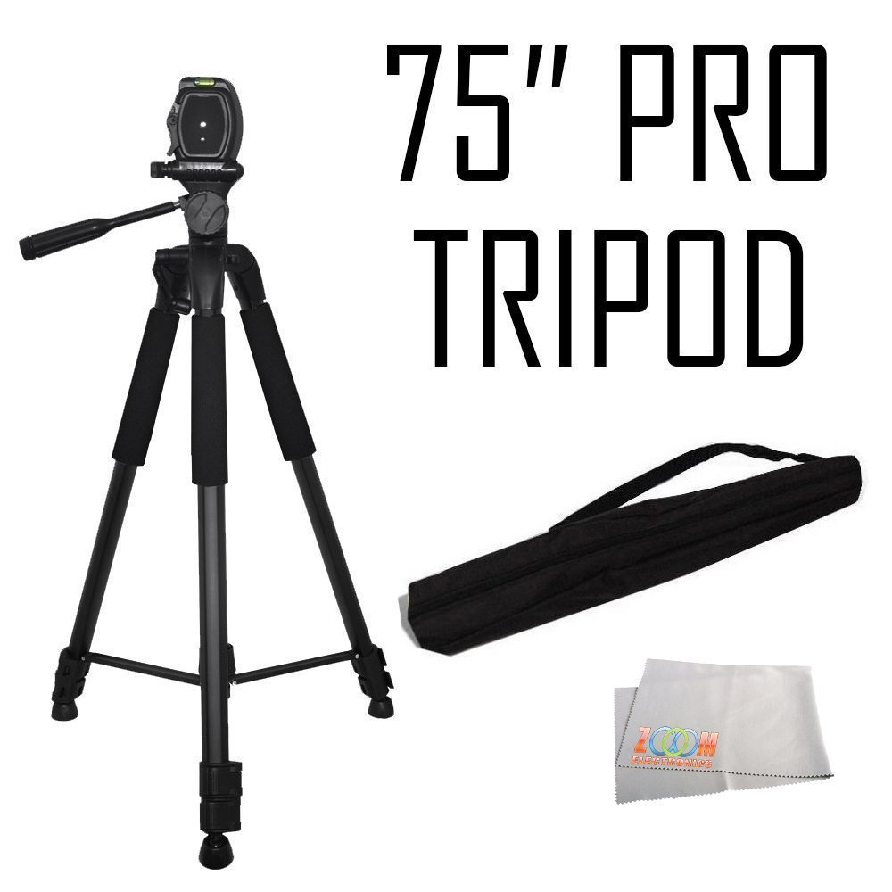 75-Inch 3-Way Pan Head Tripod