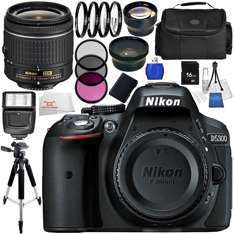 Nikon D5300 DSLR Camera (Black