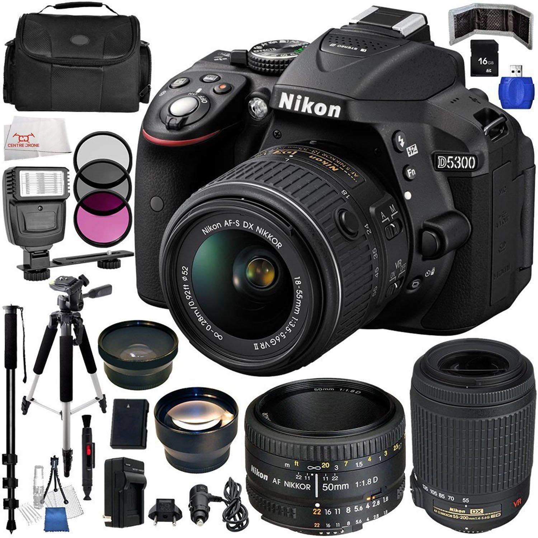Nikon D5300 High Grade Multi-Coated Multi-Threaded 55mm 3 Piece Lens Filter Kit