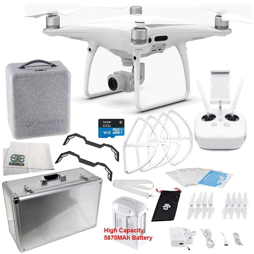 DJI Phantom 4 PRO Quadcopter Starters Aluminum Carrying Case Bundle