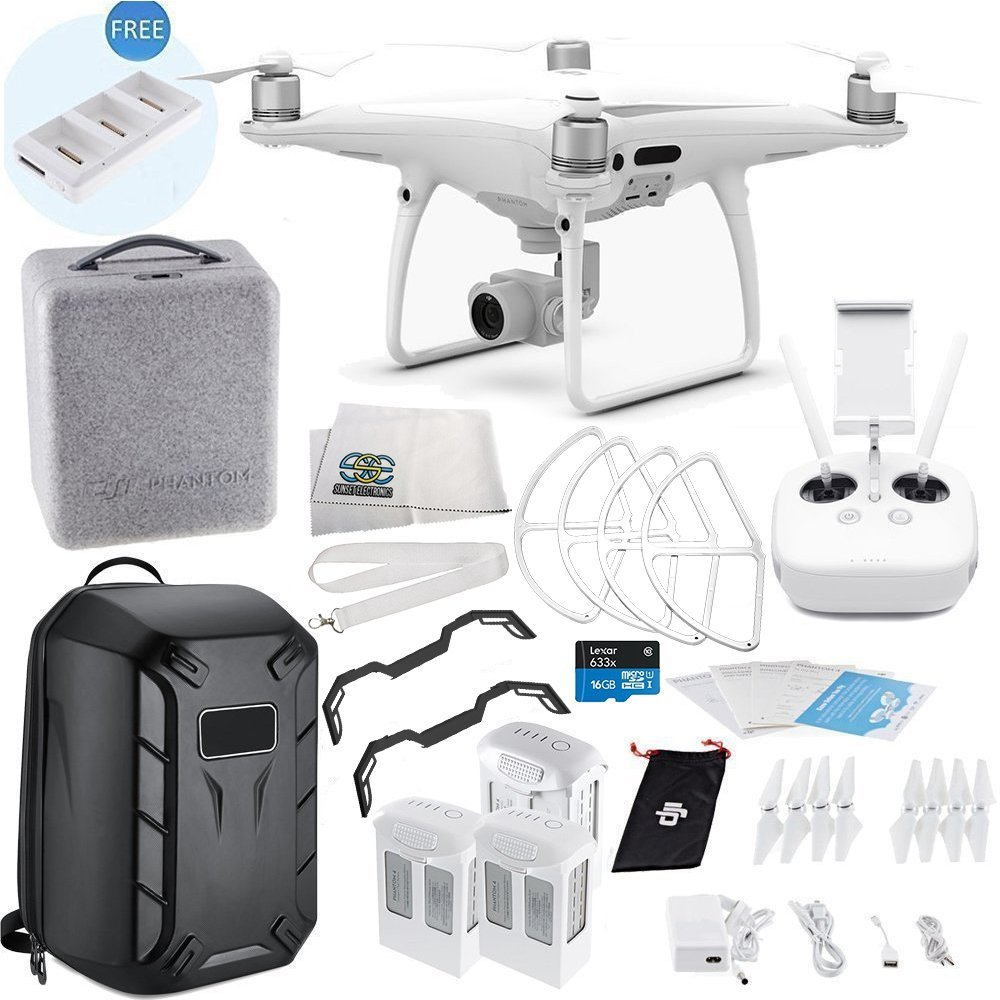 DJI Phantom 4 PRO Quadcopter Ultimate Hardshell Backpack Bundle
