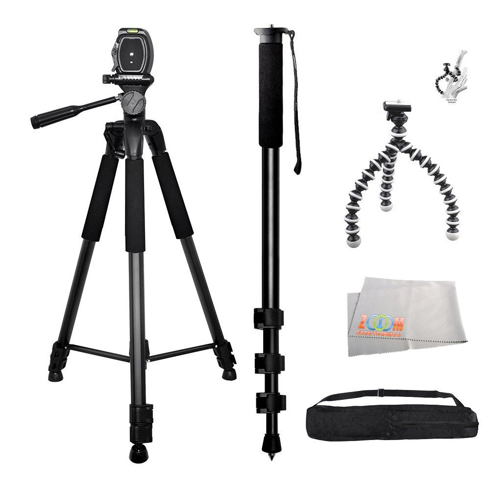 3PC Best Value Tripod Package For Sony Alpha 7, a7, Alpha 7R, a7R, NEX-3, NEX-3N, NEX-5, NEX-5N, NEX-5R, NEX-5T, NEX-6, NEX-7, NEX-C3, NEX-F3 Digital SLR Cameras Includes 1 Professional 75 Inch Tripod With Carrying Case + MORE