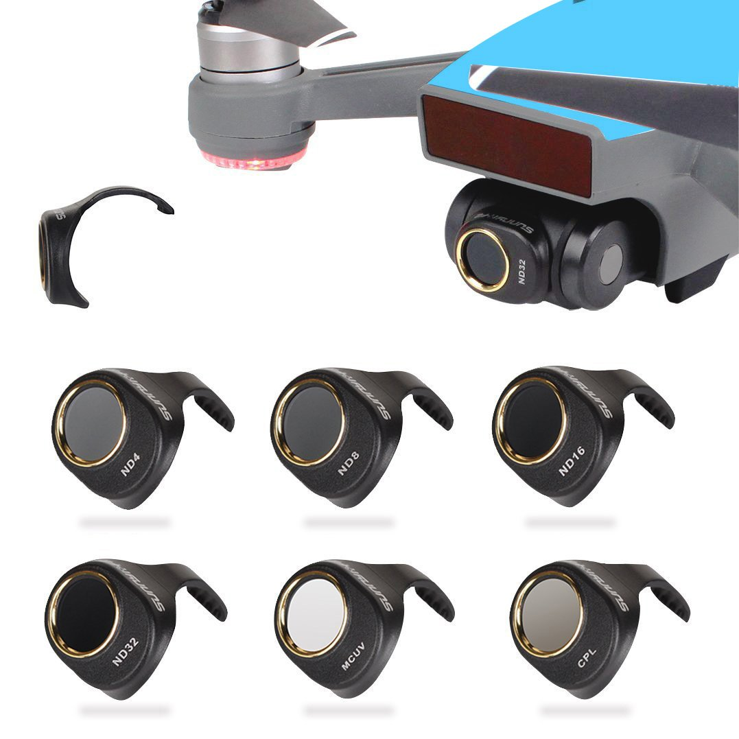 Camera Lens Filter CPL & MCUV & ND4 & ND8 & ND16 & ND32 Filters Kit for DJI SPARK