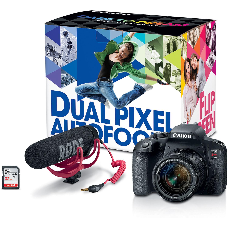 Canon EOS Rebel T7i DSLR Camer