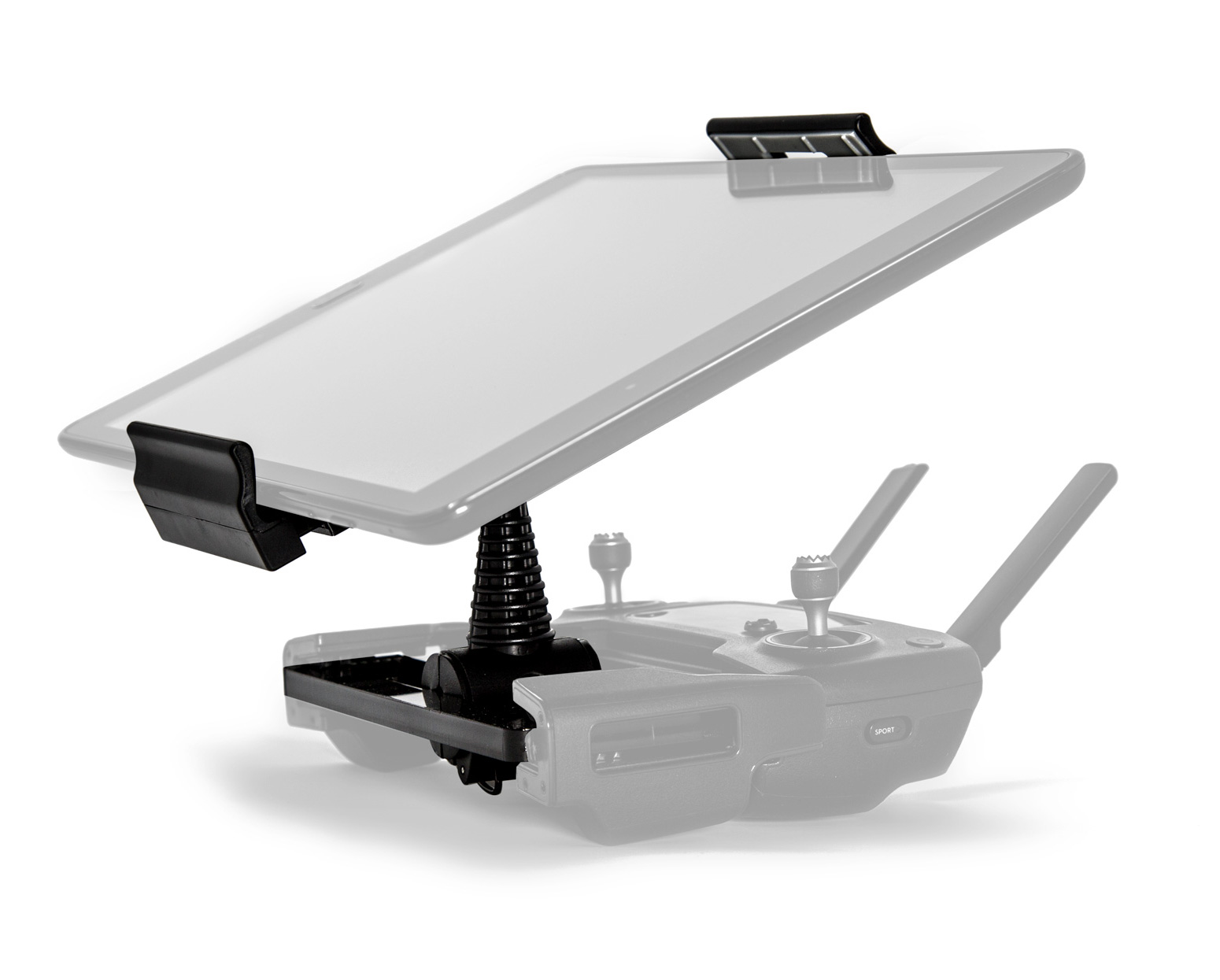 Ultimaxx Foldable Extender 4-12 Inches Tablet Stand Holder, Snap On / Off Bracket for DJI Mavic PRO and DJI Spark Controllers