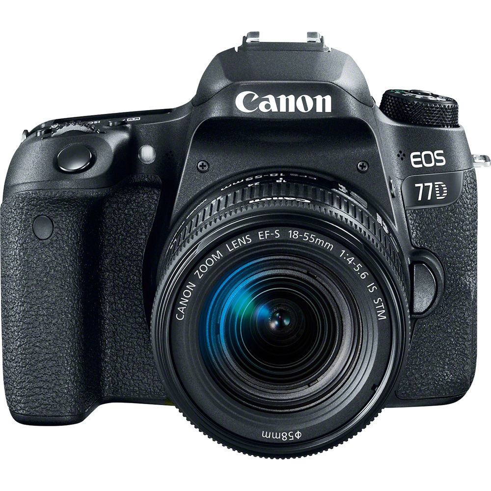 Canon EOS 77D DSLR with EF-S 18-55mm F4-5.6 IS STM Lens