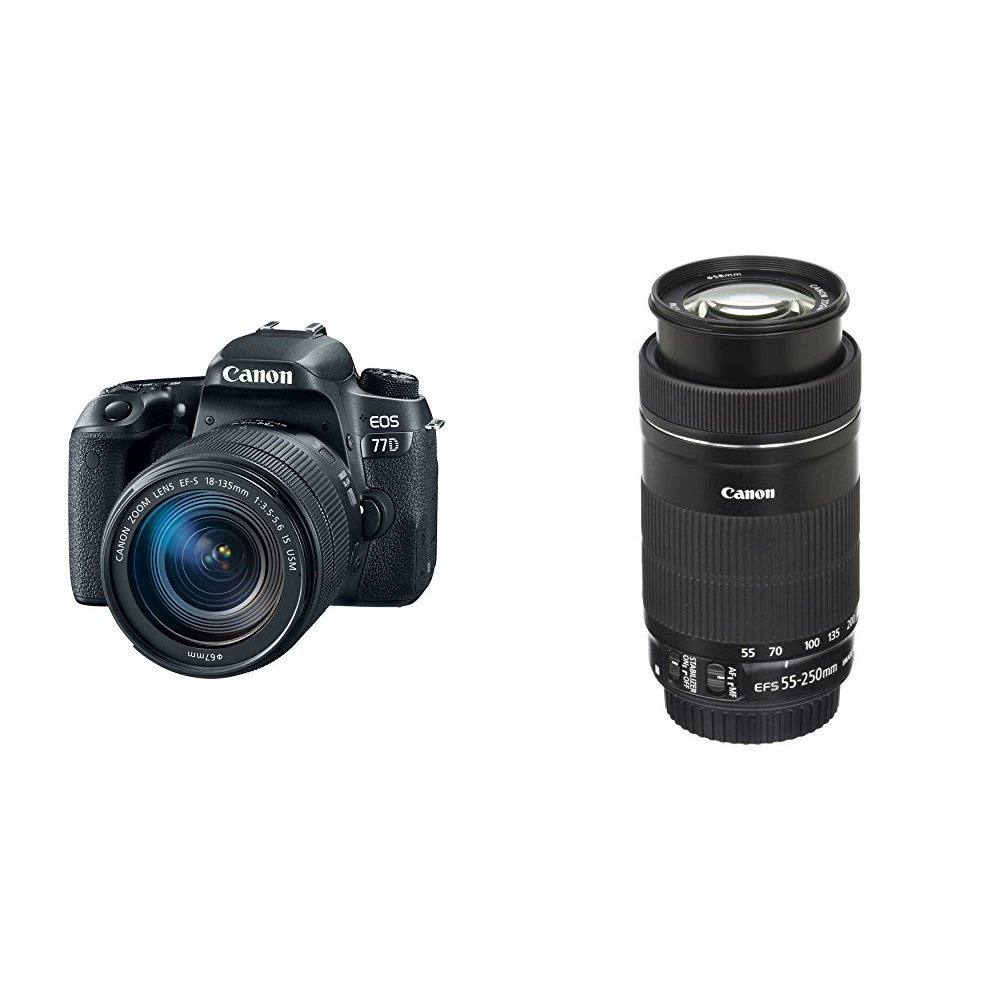 EOS 77D Camera Bundle with EF-