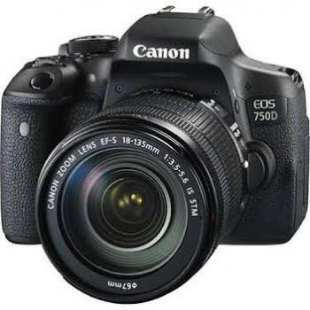 Canon EOS Rebel T6i DSLR Camera with 18-135mm STM Lens