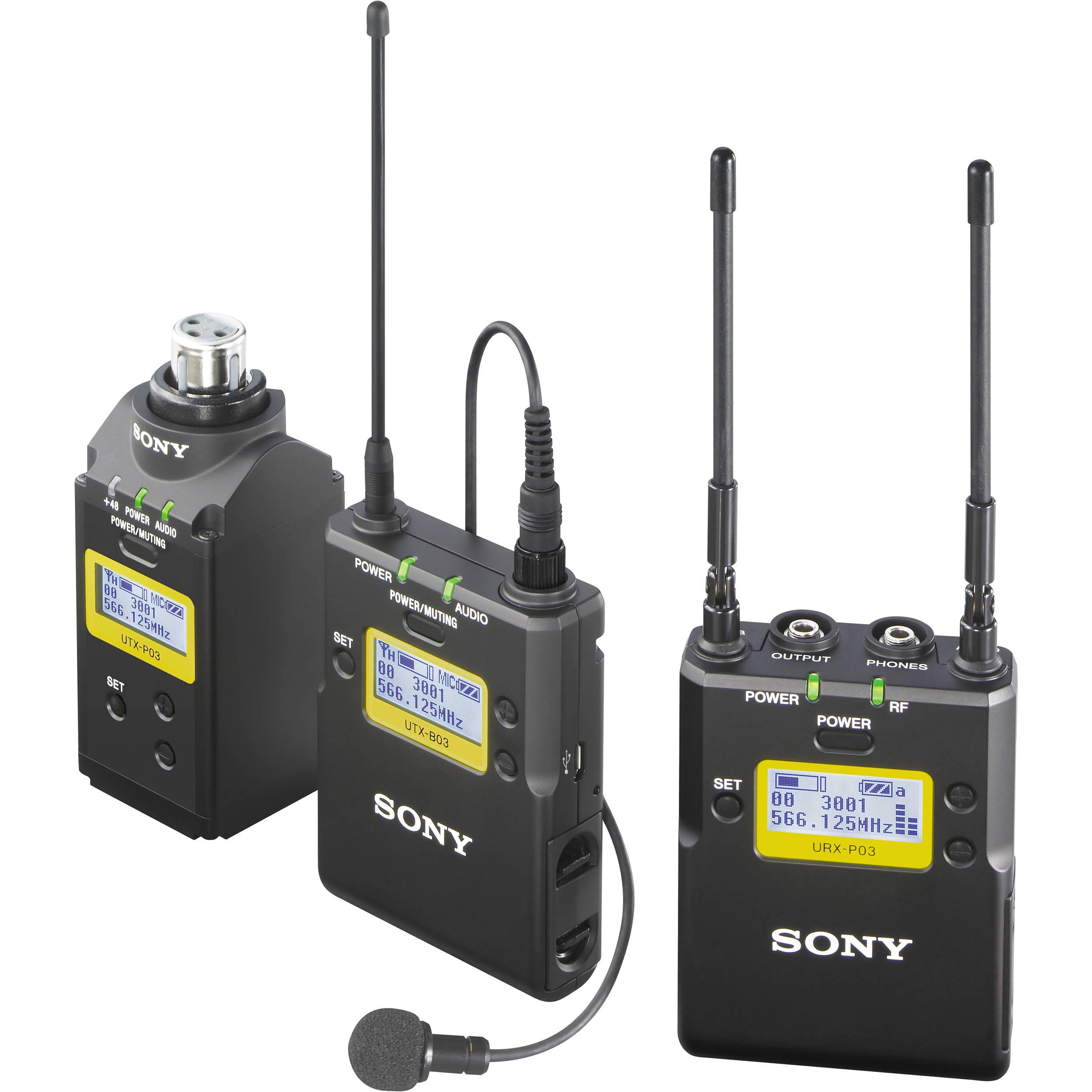 Sony Professional Bodypack-Lav Mic & Plug- on ENG pkg CH30