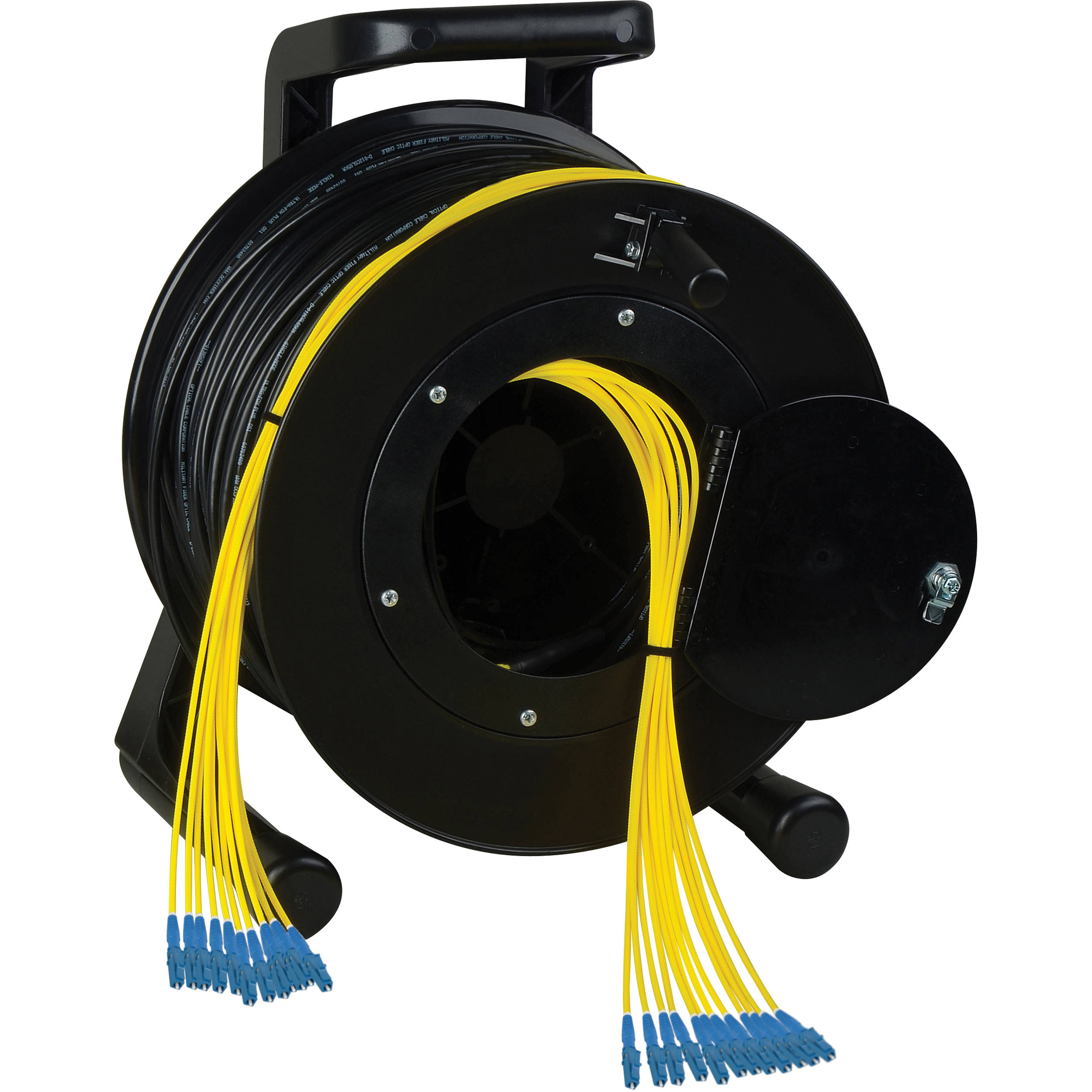 Camplex 12-Channel LC Single Mode Fiber Optic Tactical Snake on Reel 1750Ft