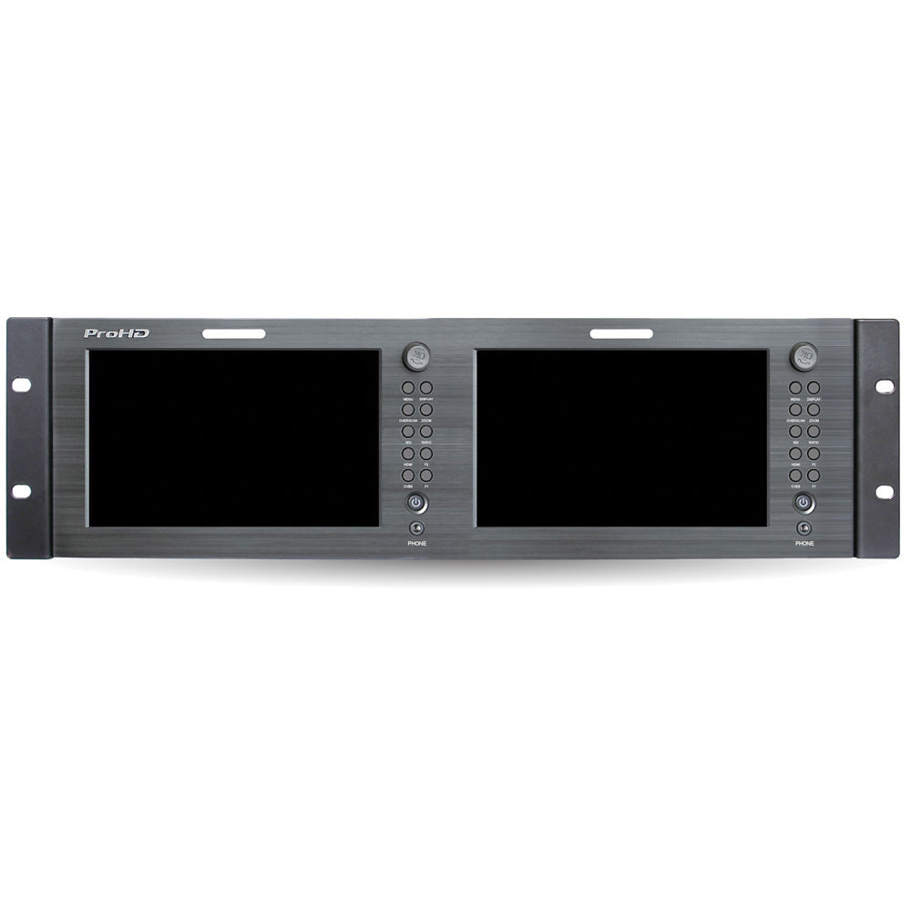 DUAL 7-IN RACK DISPLAY MONITOR