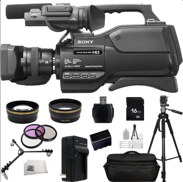 Sony HXR-MC2500E (PAL) Shoulder Pro Video Camcorder + Accessory Bundle Kit