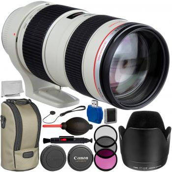 Image of Canon EF 70-200mm F/2.8L USM Lens With 9PC Accessory Bundle
