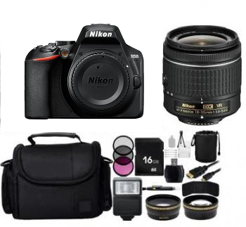 Nikon D3500 DSLR Camera with 18-55mm Lens (Black) Bundle