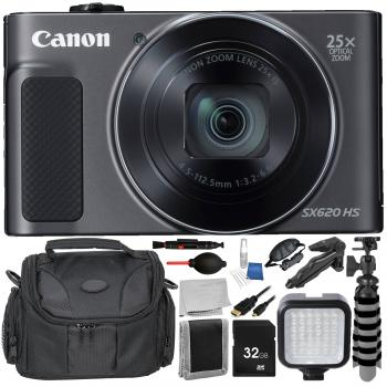 Canon PowerShot SX620 HS Digital Camera (Black) Accessory Bundle