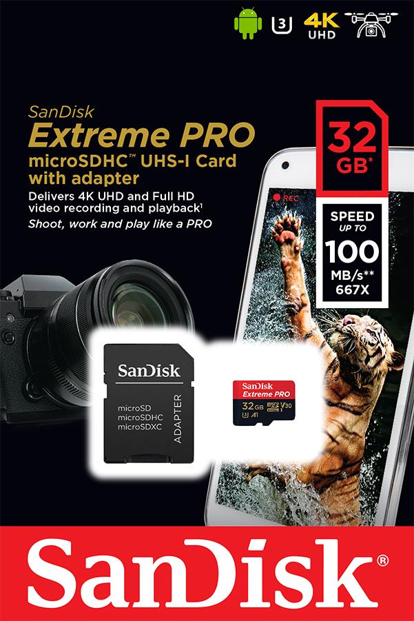 SanDisk 32GB Extreme PLUS UHS-
