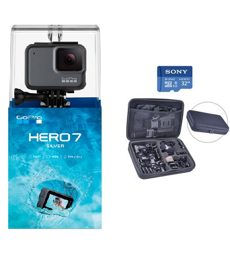 GoPro HERO7 (Silver) with 13 P