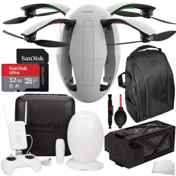 PowerVision PowerEgg Drone with 360 Panoramic 4K HD Camera and 3-Axis Gimbal with Maestro Backpack Bundle