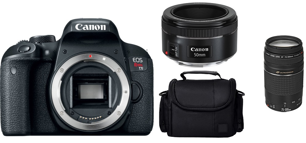 Canon EOS Rebel T7i with EF 50