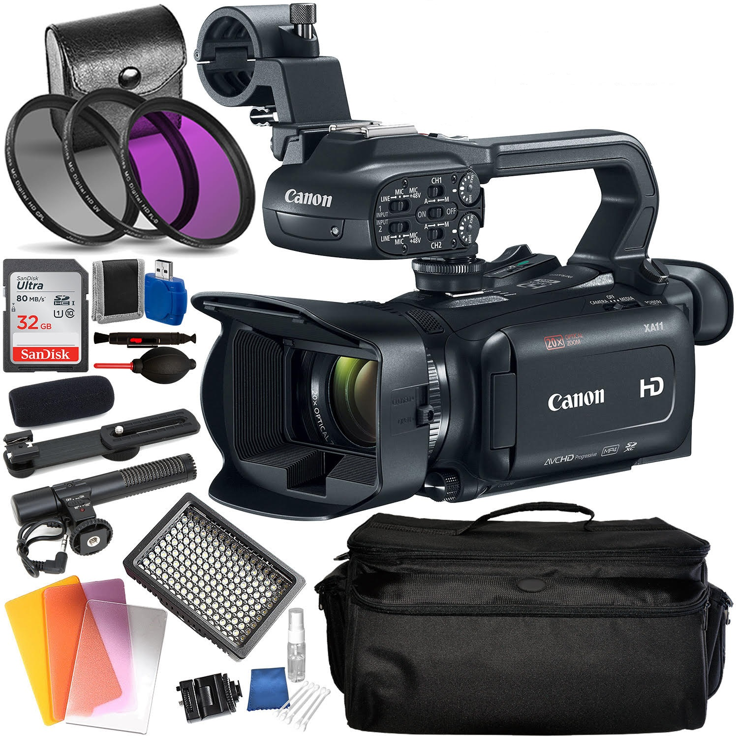 Canon XA11 Compact Full HD Camcorder (PAL) Accessory Bundle