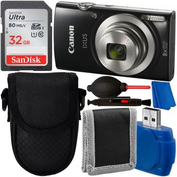 Canon Ixus 185 Elph 180 Compact Digital Camera With Starter Accessory Bundle