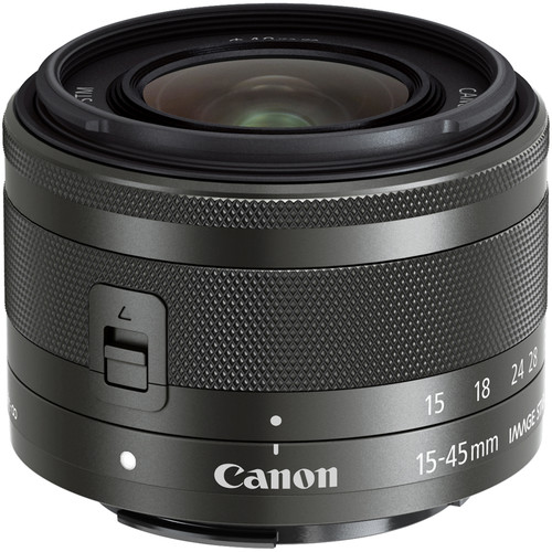 Image of Canon EF-M 15-45mm F/3.5-6.3 IS STM Lens (Graphite)