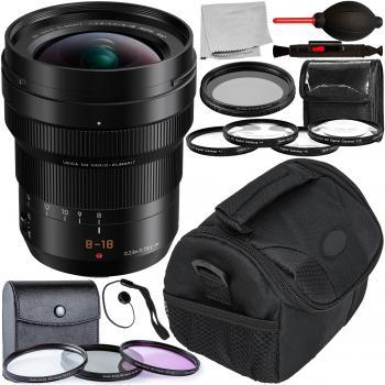Image of Panasonic Leica DG Vario-Elmarit 8-18mm F/2.8-4 ASPH. Lens With Accessory Bundle