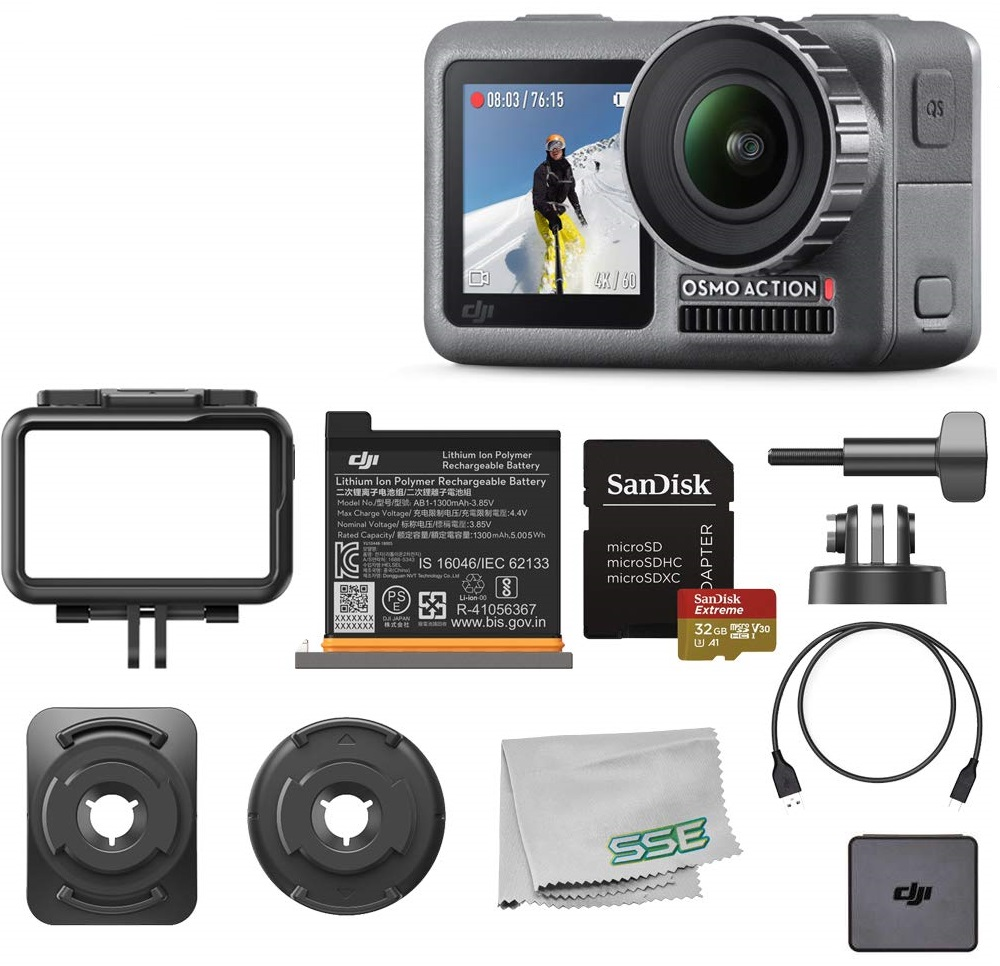 DJI Osmo Action 4K HDR Waterproof Camera Starters Bundle