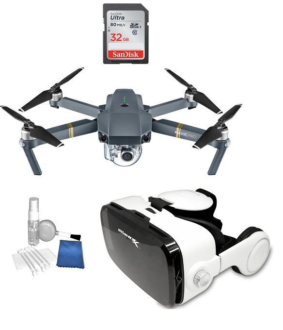 DJI Mavic Pro 4K Quadcopter Drone with 3D VR Bundle