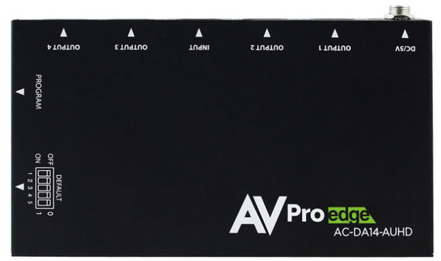 AVPro Edge AC-DA14-AUHD 1x4 HDMI Distribution Amplifier
