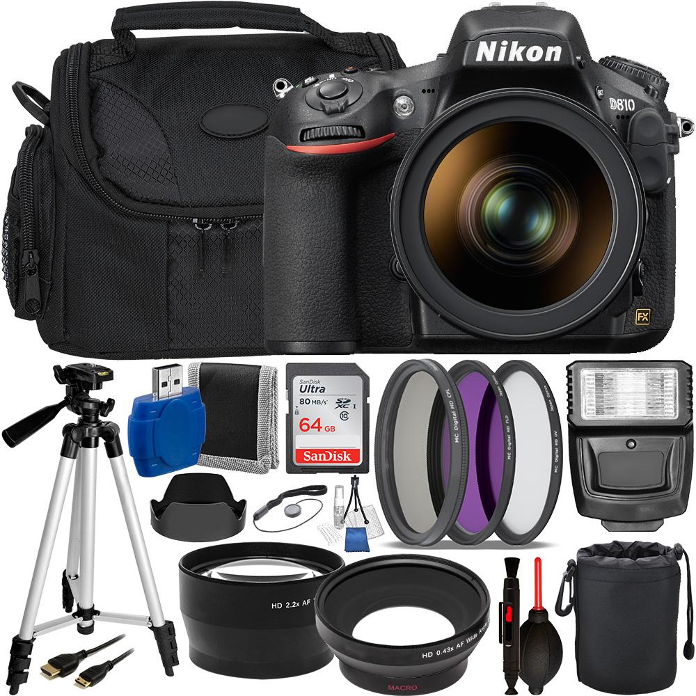 Nikon D810 DSLR Camera with 24