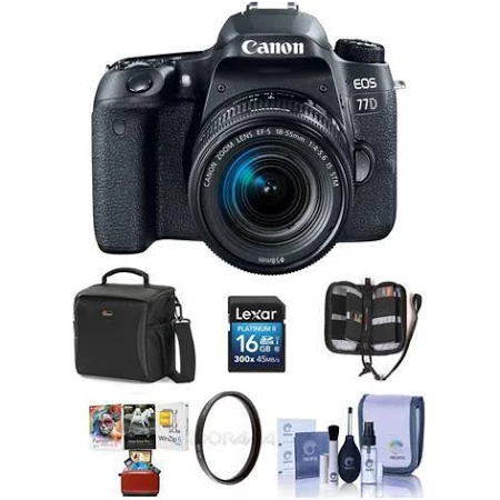 Canon EOS 77D DSLR with EF-S 1