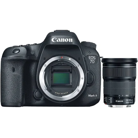 """Image of Canon EOS 7D Mark II 20.2MP DSLR Camera With 3.0"""" LCD + Canon EF 24-105mm F/3.5-5.6 IS STM Lens"""