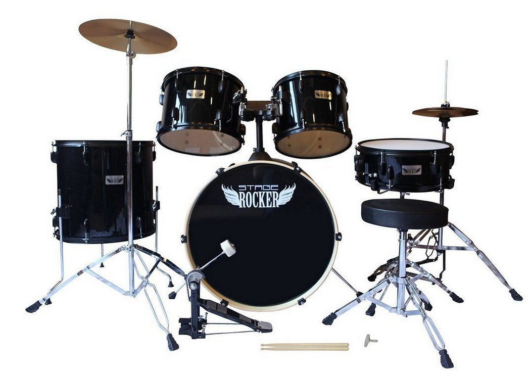 Stage Rocker 5 Piece Drum Set