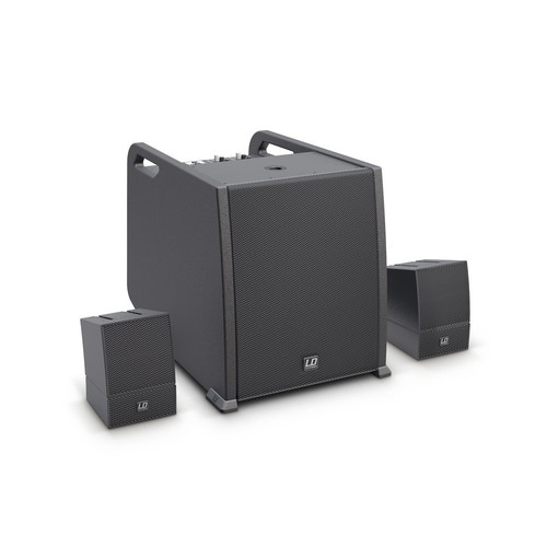 LD Systems CURV 500 AVS Portable Array System AV Set with Speaker Cables (Black)